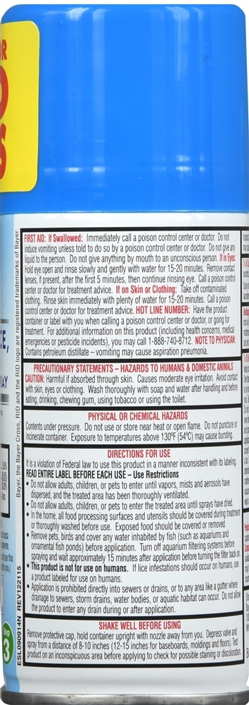 RID Step 3 Home Lice, Bedbug & Dust Mite Spray