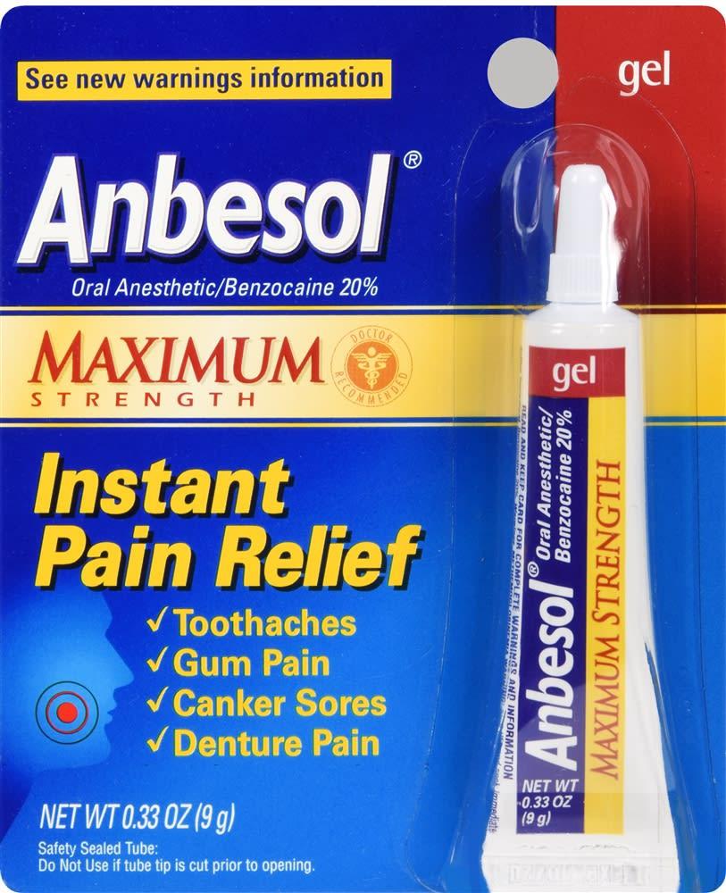 Anbesol Instant Pain Relief Gel Maximum Strength