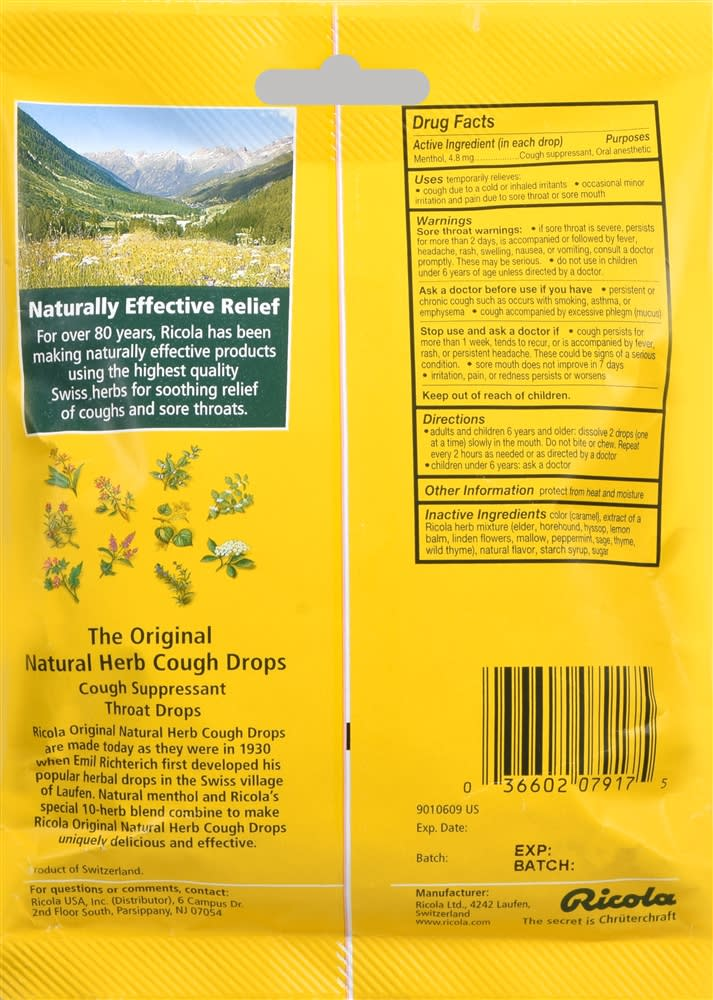 Ricola Cough Drops The Original Natural Herb