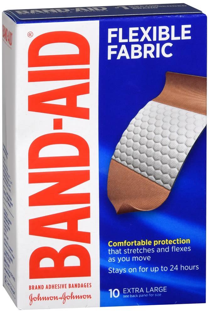 Band-Aid Flexible Fabric Adhesive Bandages Extra Large
