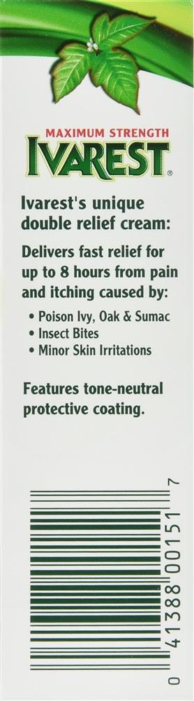 Ivarest Poison Ivy Itch Cream Maximum Strength