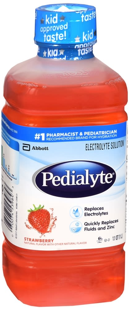 Pedialyte Electrolyte Solution, Strawberry