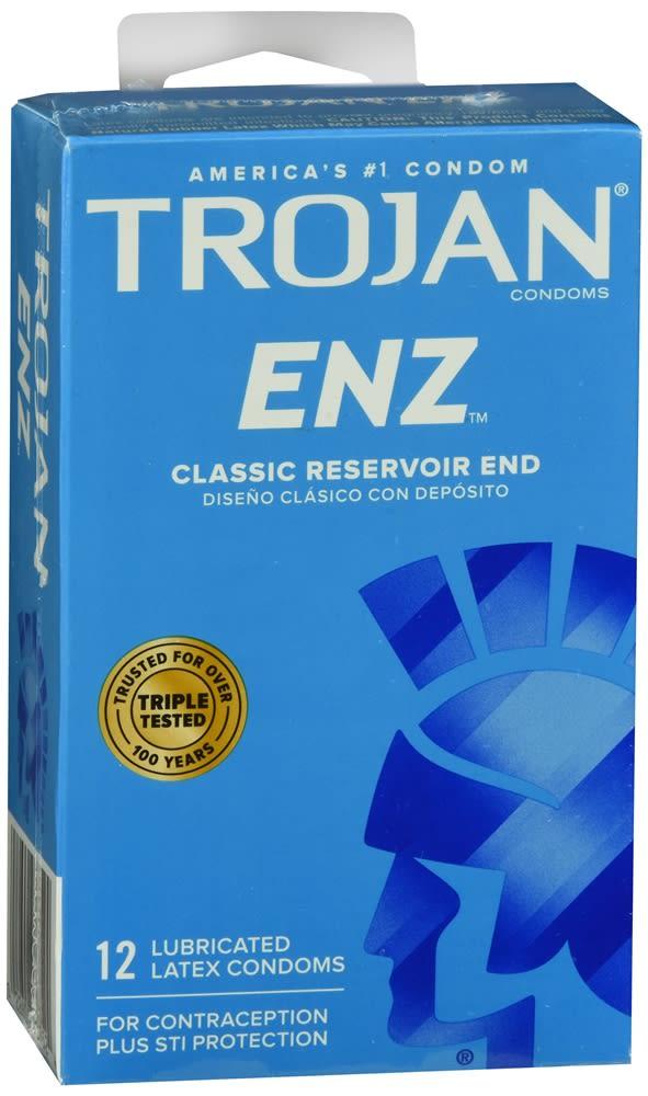 Trojan Enz Lubricant Latex Condoms