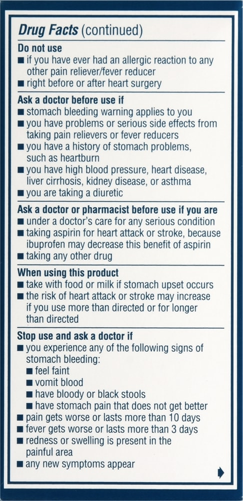 Advil Coated Tablets, Ibuprofen 200mg (100 count)