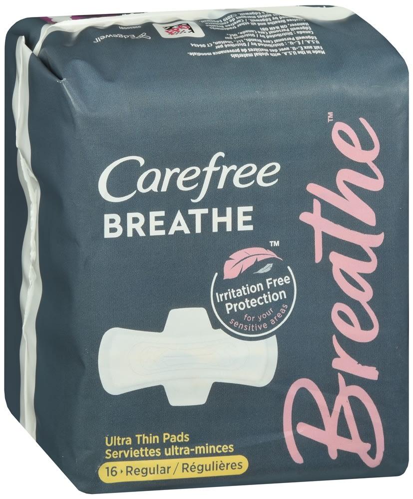 Carefree Breathe Ultra Thin Pads Regular
