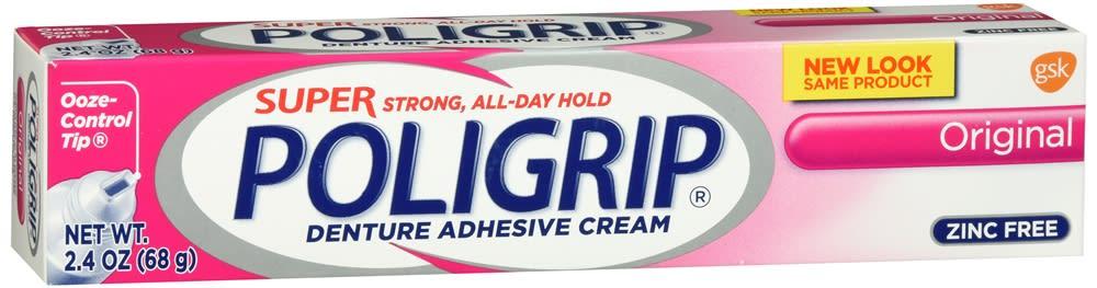 Super Poligrip Denture Adhesive Cream Original