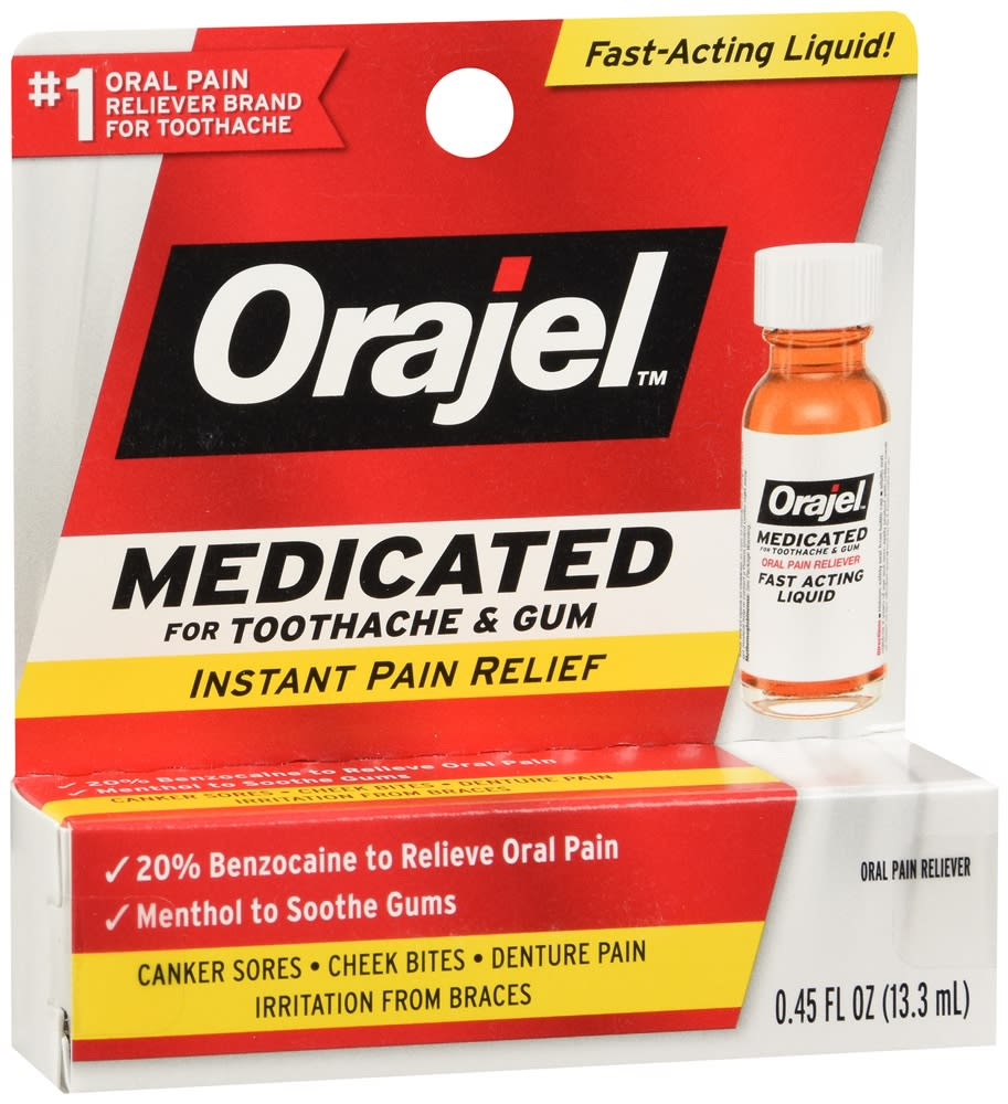 Orajel Medicated Pain Reliever for Toothache & Gum