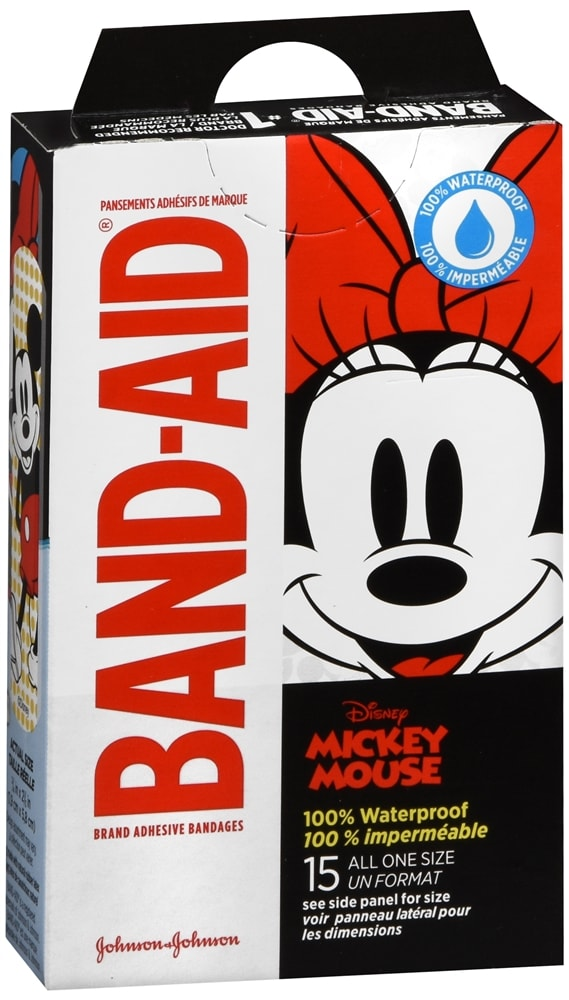 Band-Aid Adhesive Bandages Mickey Mouse All One Size