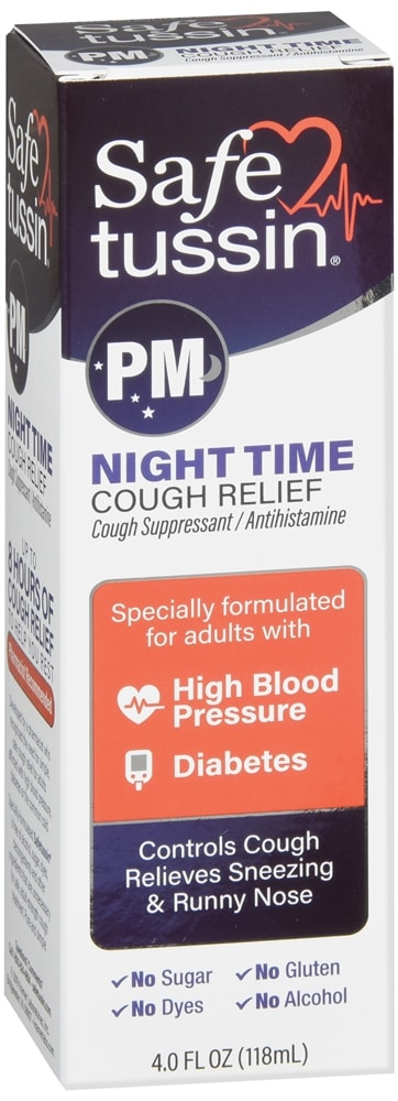 Safetussin PM Night Time Cough Relief Liquid