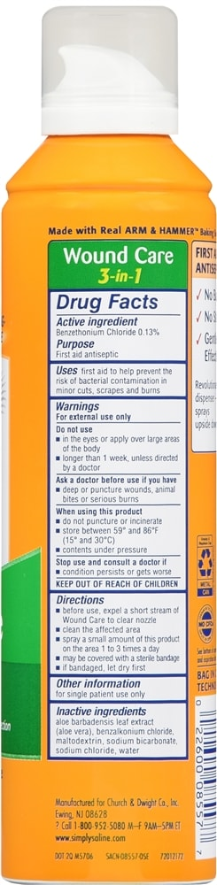 Arm & Hammer Simply Saline Wound Care 3-in-1 Spray