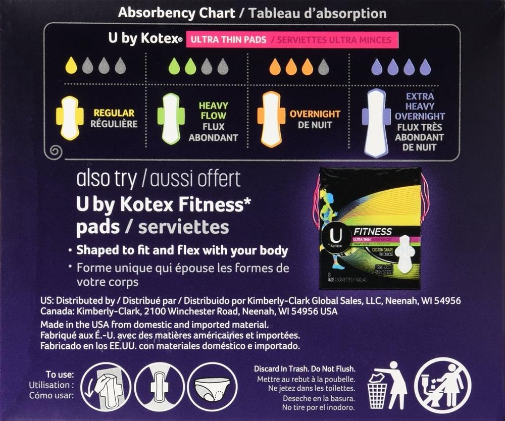 U by Kotex All Nighter Ultra Thin Pads Overnight