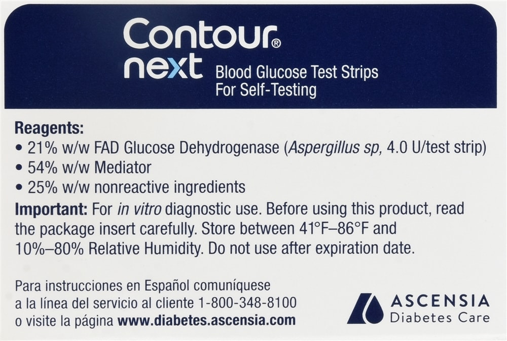 Contour Next Blood Glucose Test Strips