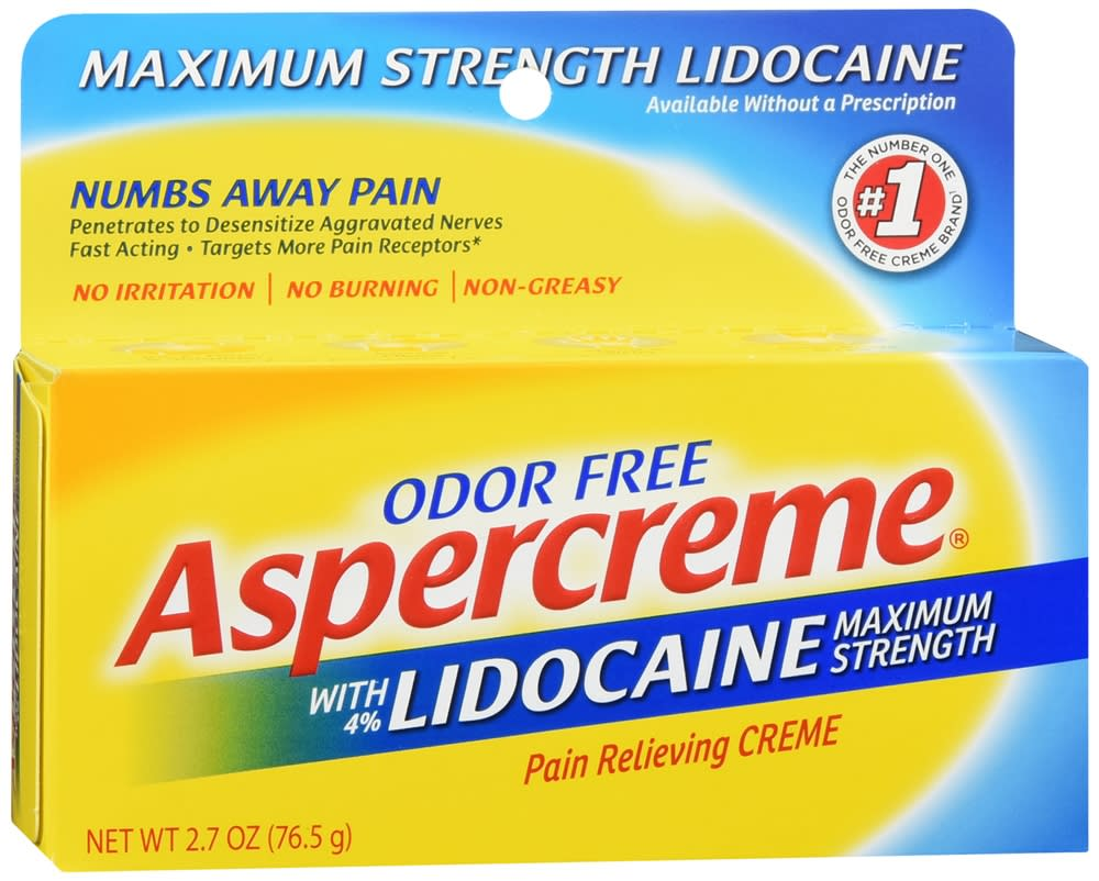 Aspercreme Pain Relieving Creme with Lidocaine