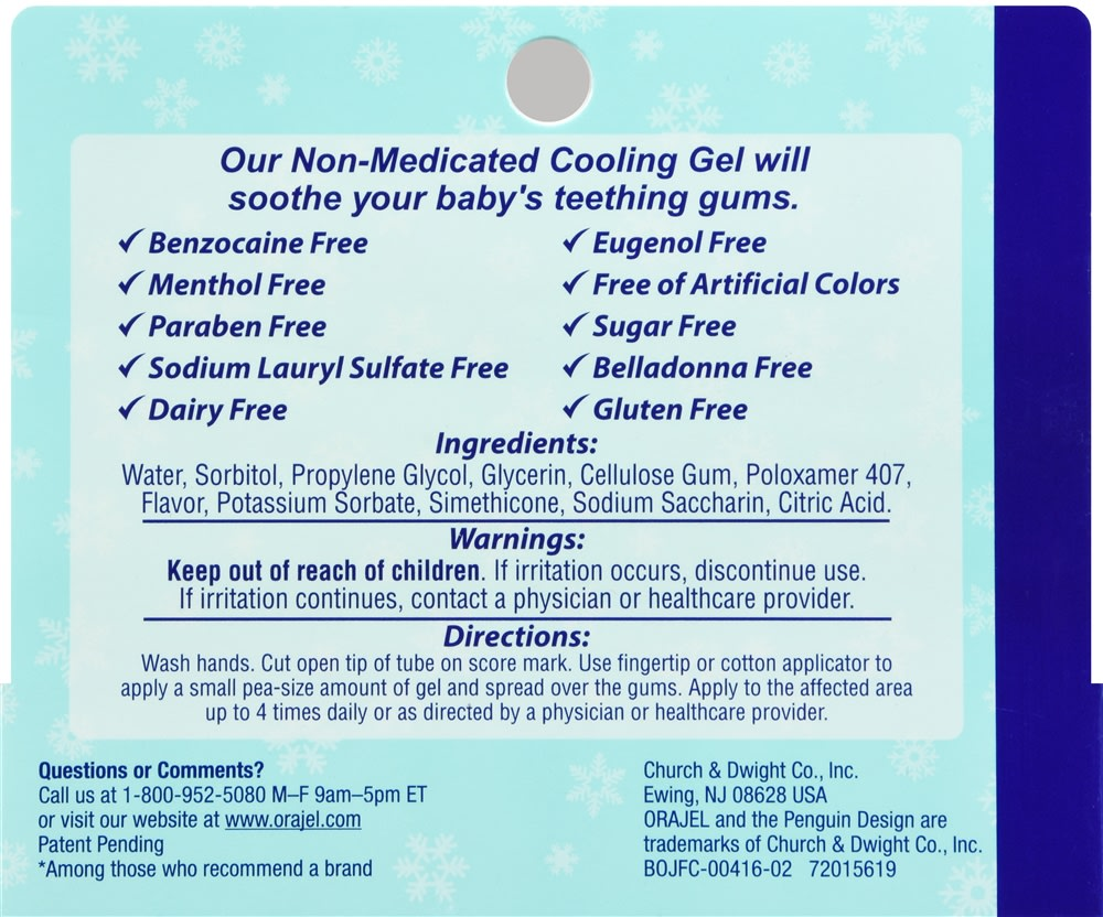Baby Orajel Non-Medicated Cooling Gel for Teething