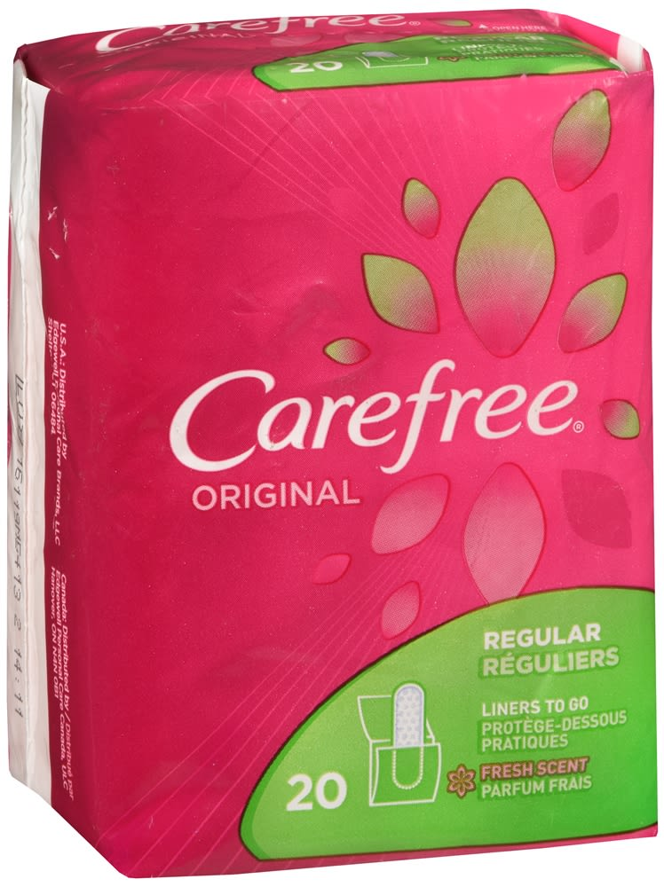 Carefree Original Liners to Go Regular Fresh Scent