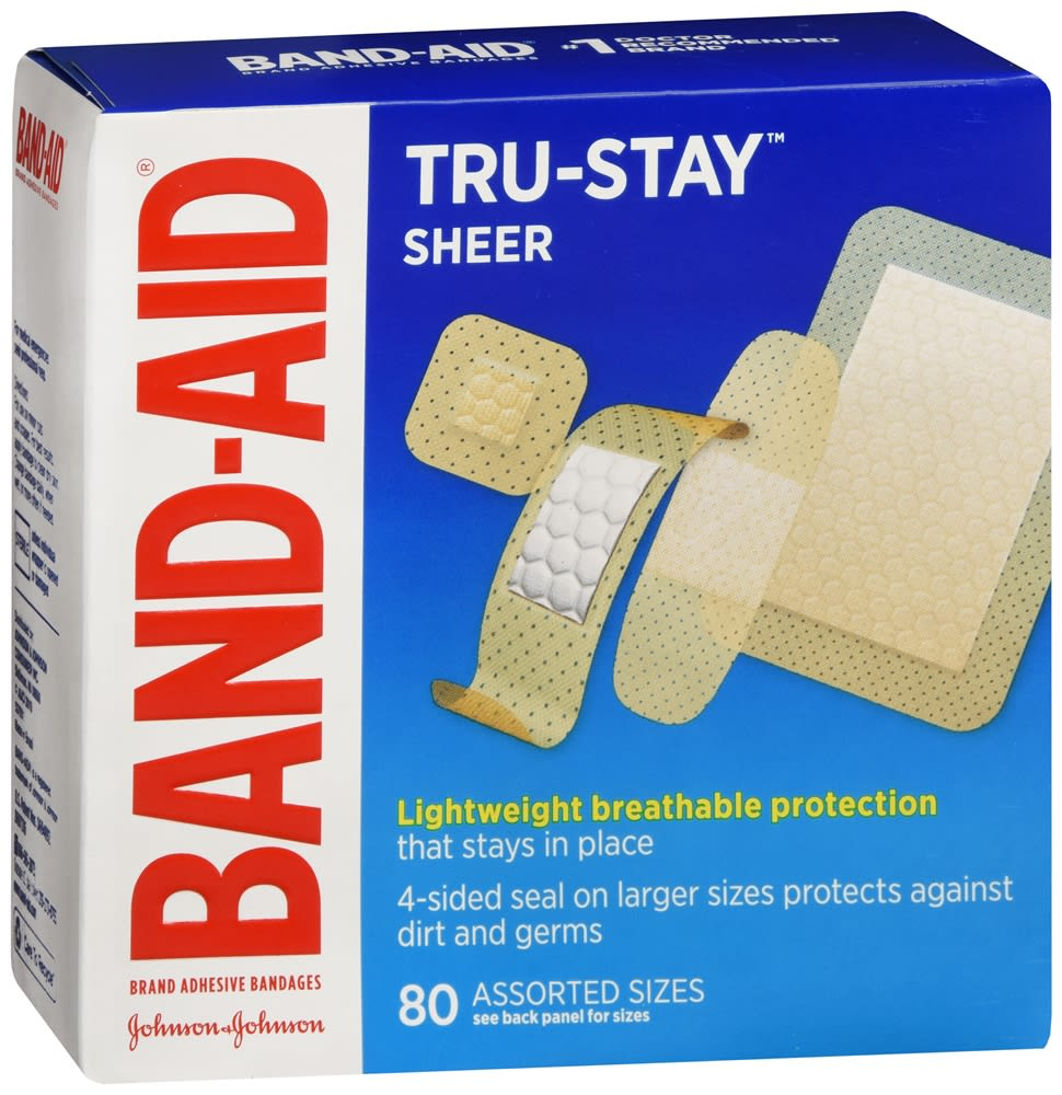 Band-Aid Tru-Stay Sheer Bandages Assorted Sizes