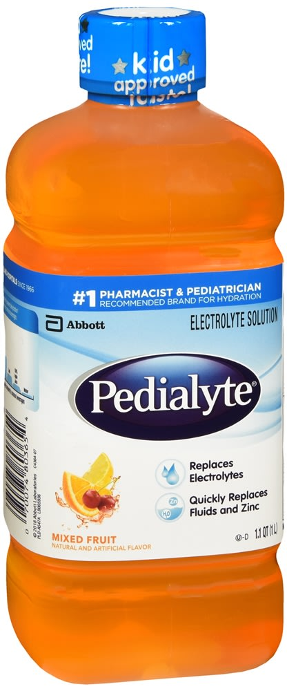 Pedialyte Electrolyte Solution, Mixed Fruit Flavor