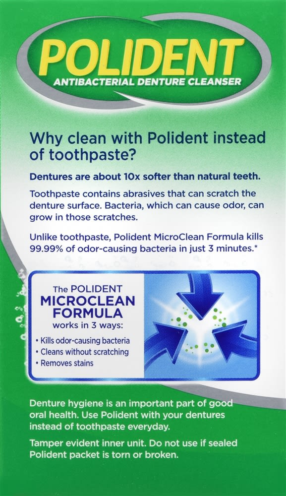 Polident 3 Minute Daily Cleanser Tablets