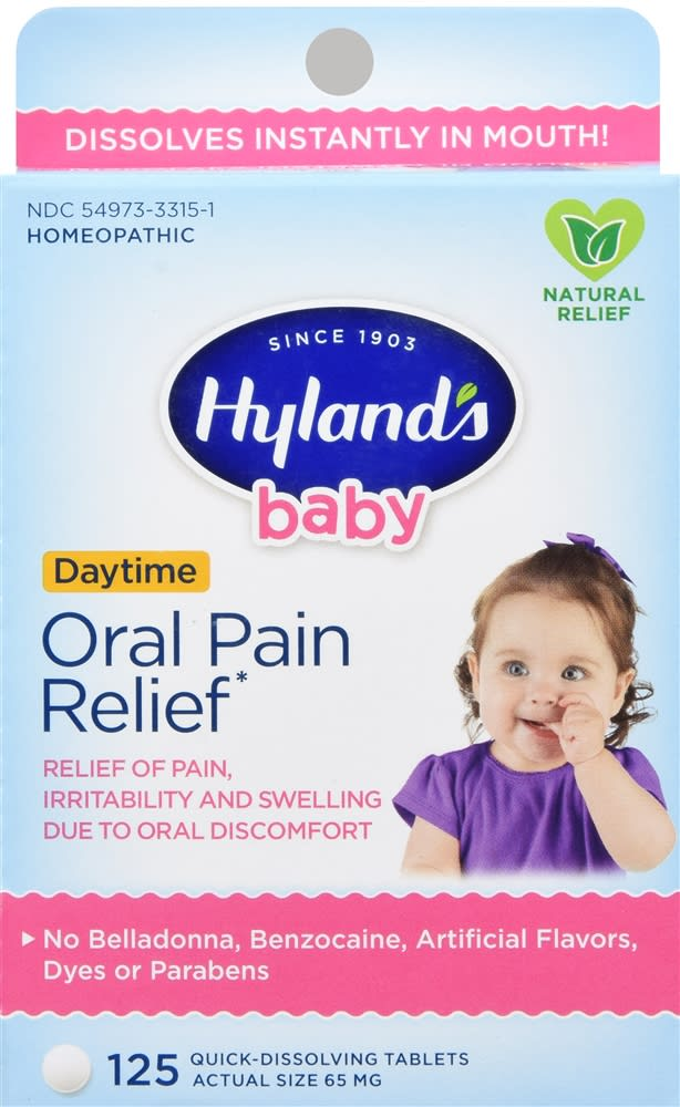 Hyland's Baby Daytime Oral Pain Relief Quick-Dissolving Tablets