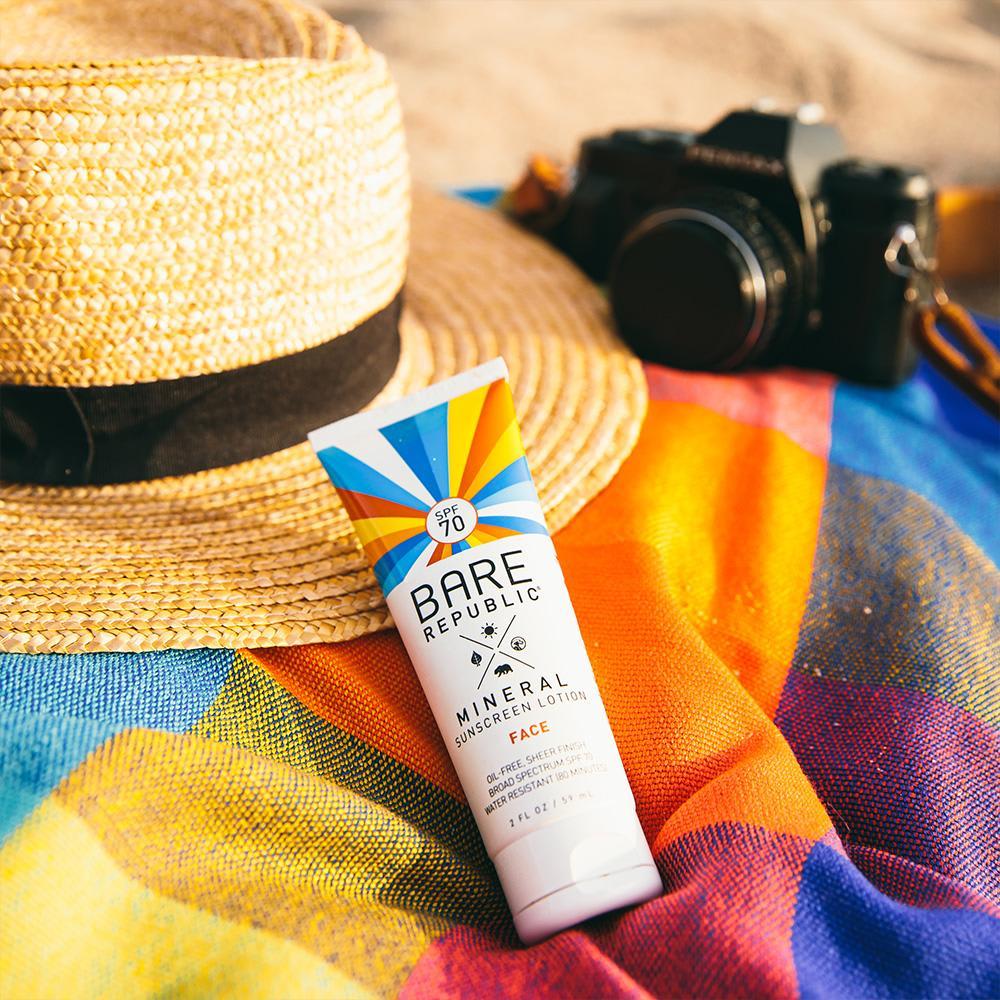 Bare Republic Mineral Face Sunscreen Lotion SPF 70 - 2 fl oz