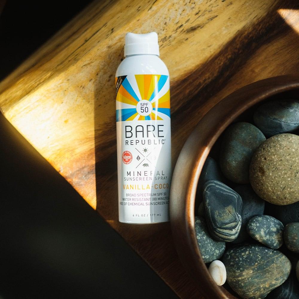Bare Republic Mineral Sunscreen Spray SPF 50, Vanilla-Coco - 6 fl oz