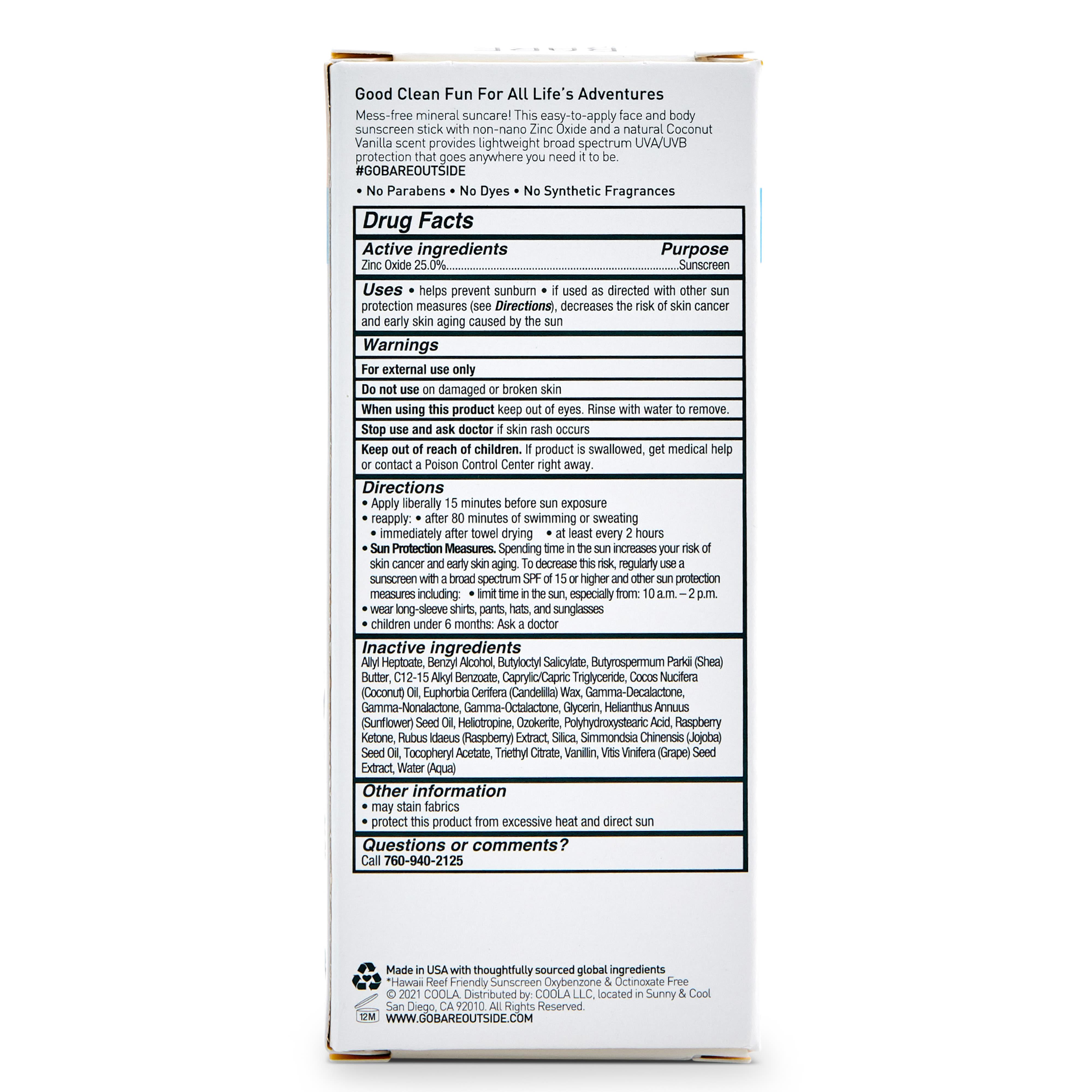 Bare Republic Mineral Sport Sunscreen Stick SPF 50 - .5 oz