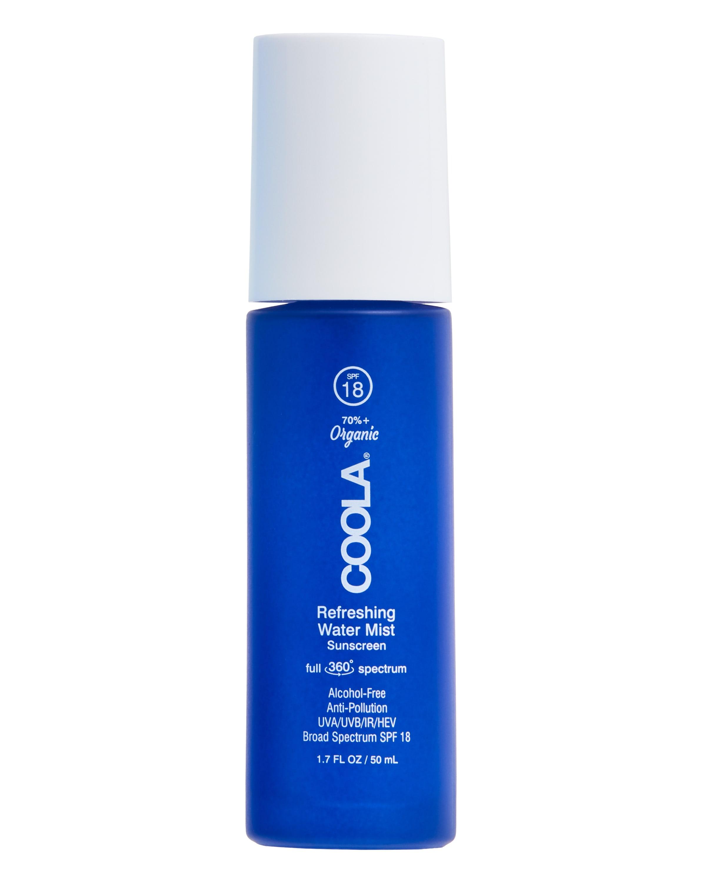 COOLA Full Spectrum 360° Refreshing Water Mist Organic Face Sunscreen, SPF 18 - 1.7 fl oz