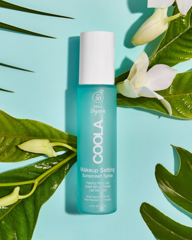COOLA Classic Makeup Setting Spray Organic Sunscreen With Green Tea & Aloe, SPF 30 - 1.5 fl oz