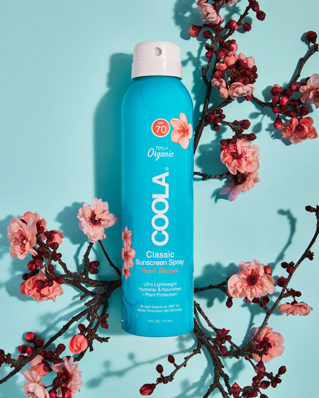 COOLA Classic Body Organic Sunscreen Spray SPF 70, Peach Blossom - 6 fl oz