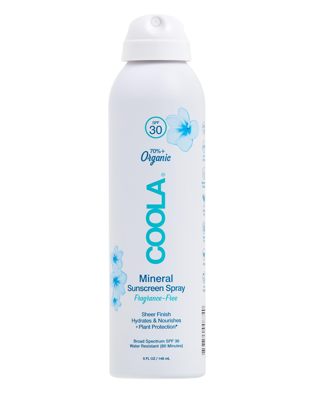 COOLA Mineral Body Organic Sunscreen Spray, SPF 30, Fragrance Free - 5 fl oz