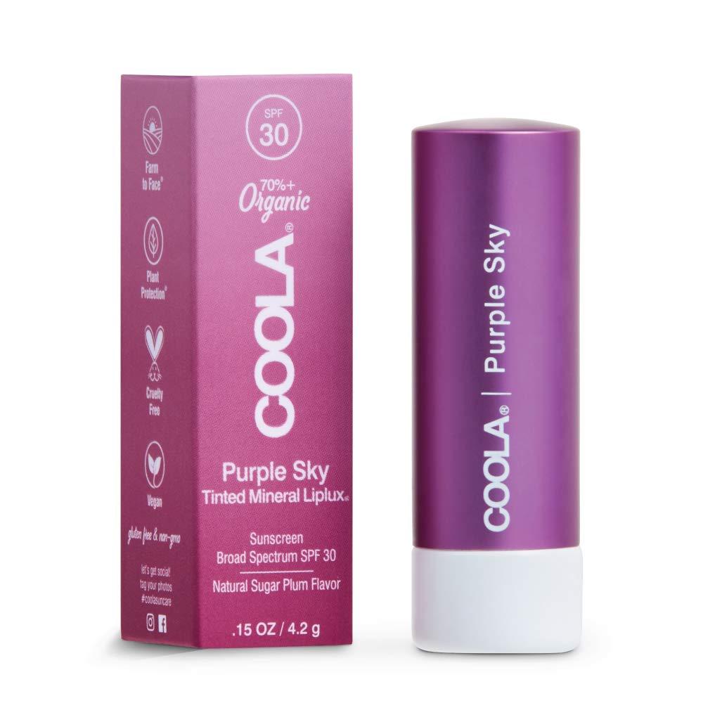 Coola Mineral Liplux Organic Tinted Lip Balm SPF 30, Purple Sky