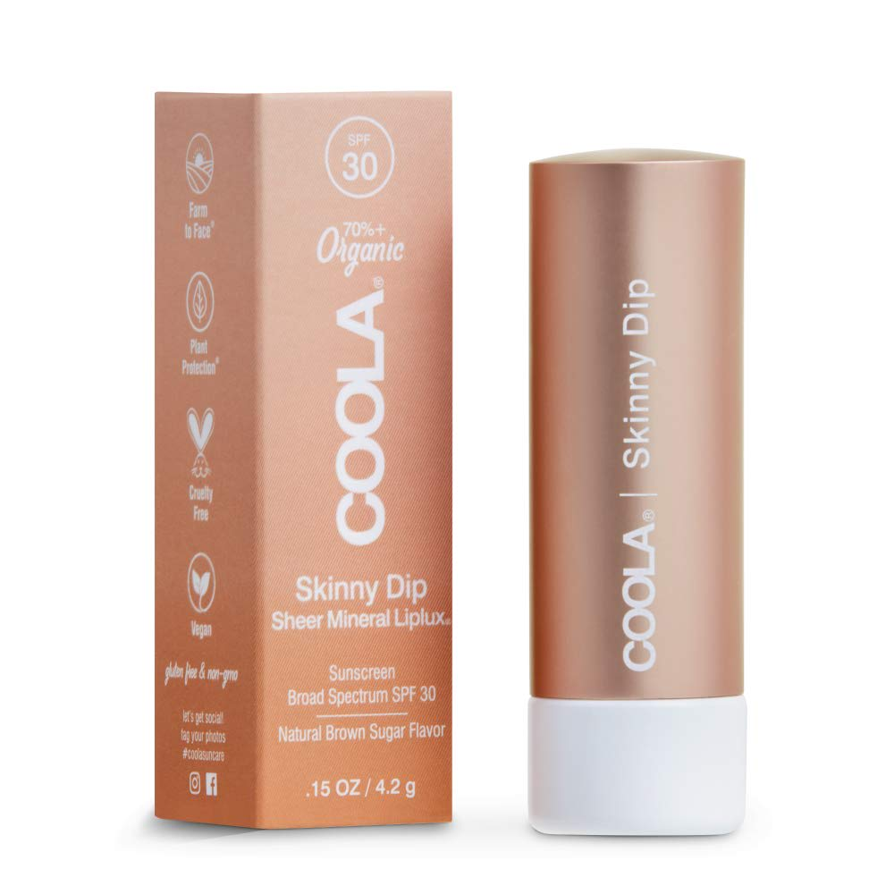 Coola Mineral Liplux Organic Tinted Lip Balm SPF 30, Skinny Dip