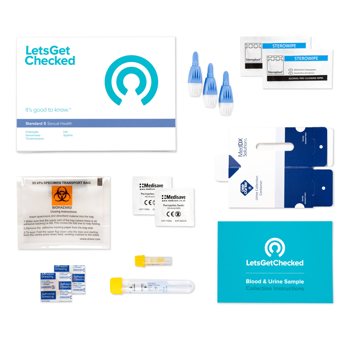 LetsGetChecked Standard 5 at Home STD Test
