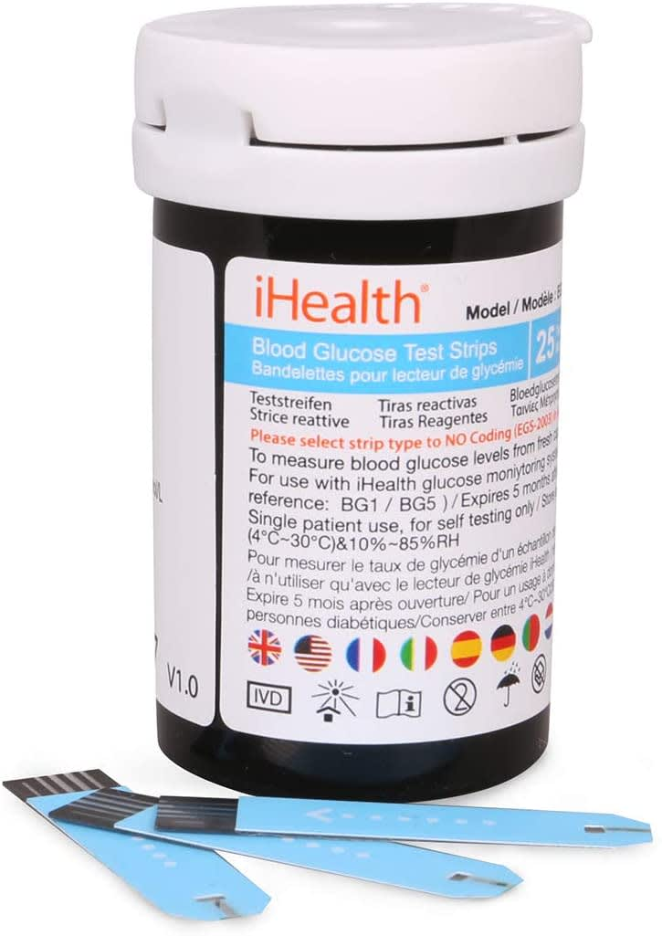 iHealth Blood Glucose Test Strips (50 Pack)