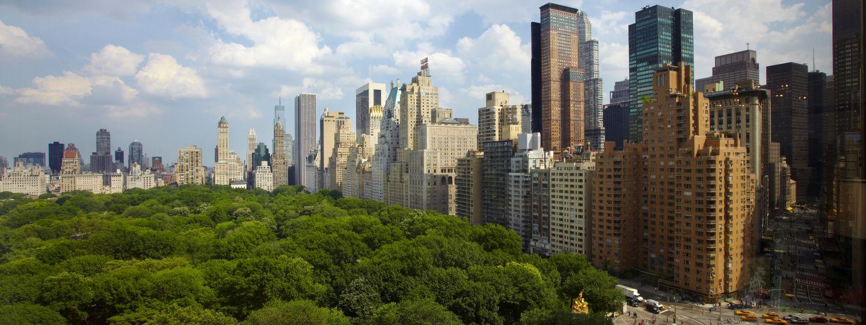 Aerial Shot Of Central Park