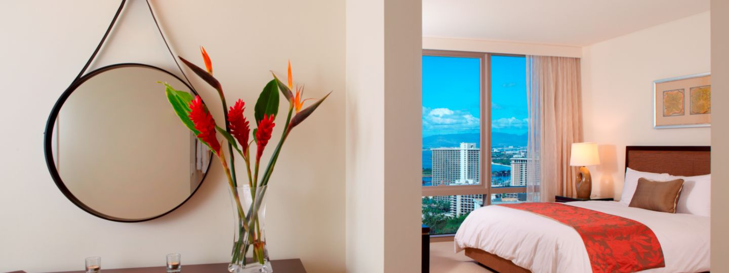 Tropical Hotel Room in Waikiki