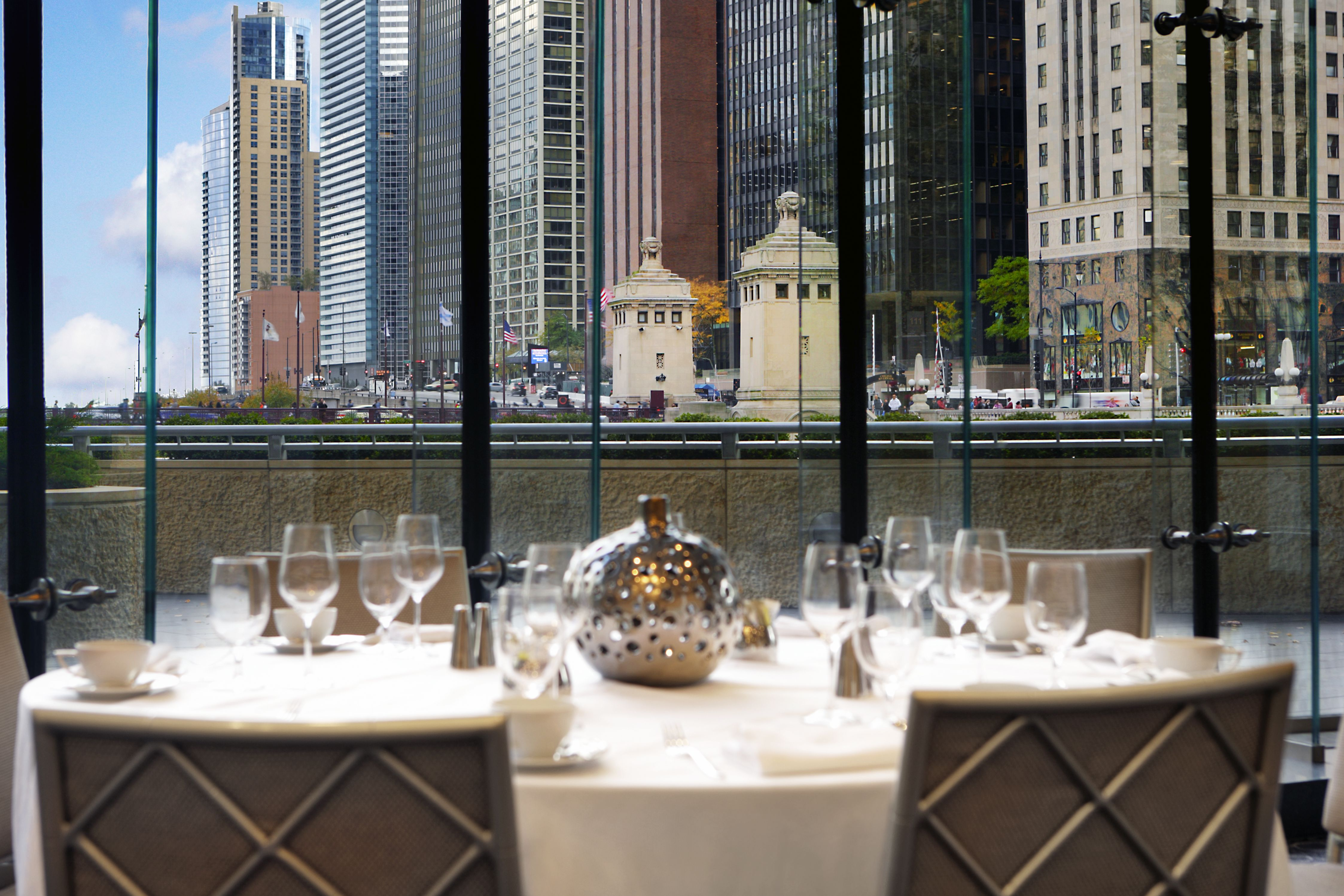 Dining Table with Chicago Views