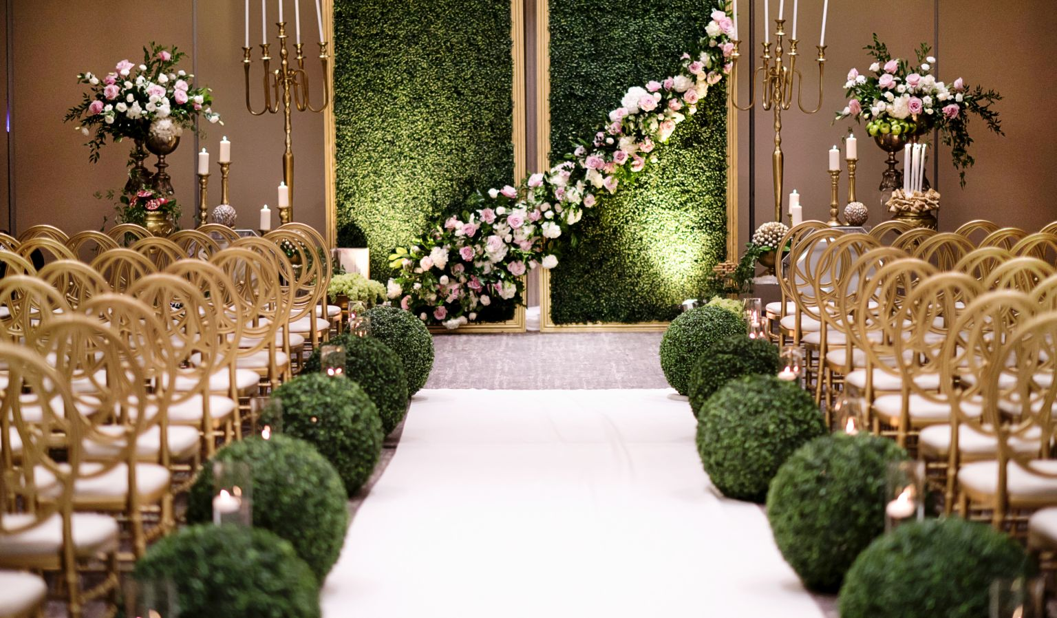 hotel interior wedding ceremony space