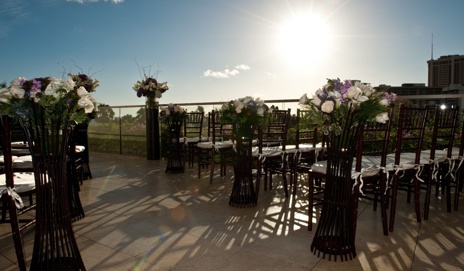 Outdoor Wedding Chairs & Flowers