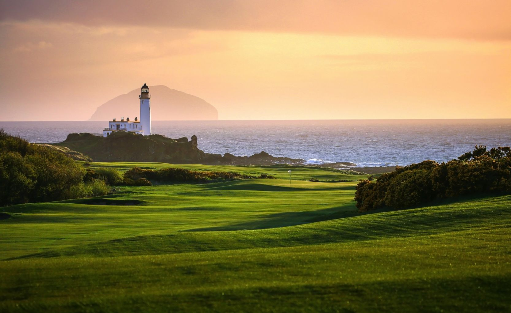 Trump Turnberry Golf Course and Lighthouse overlooking ocean