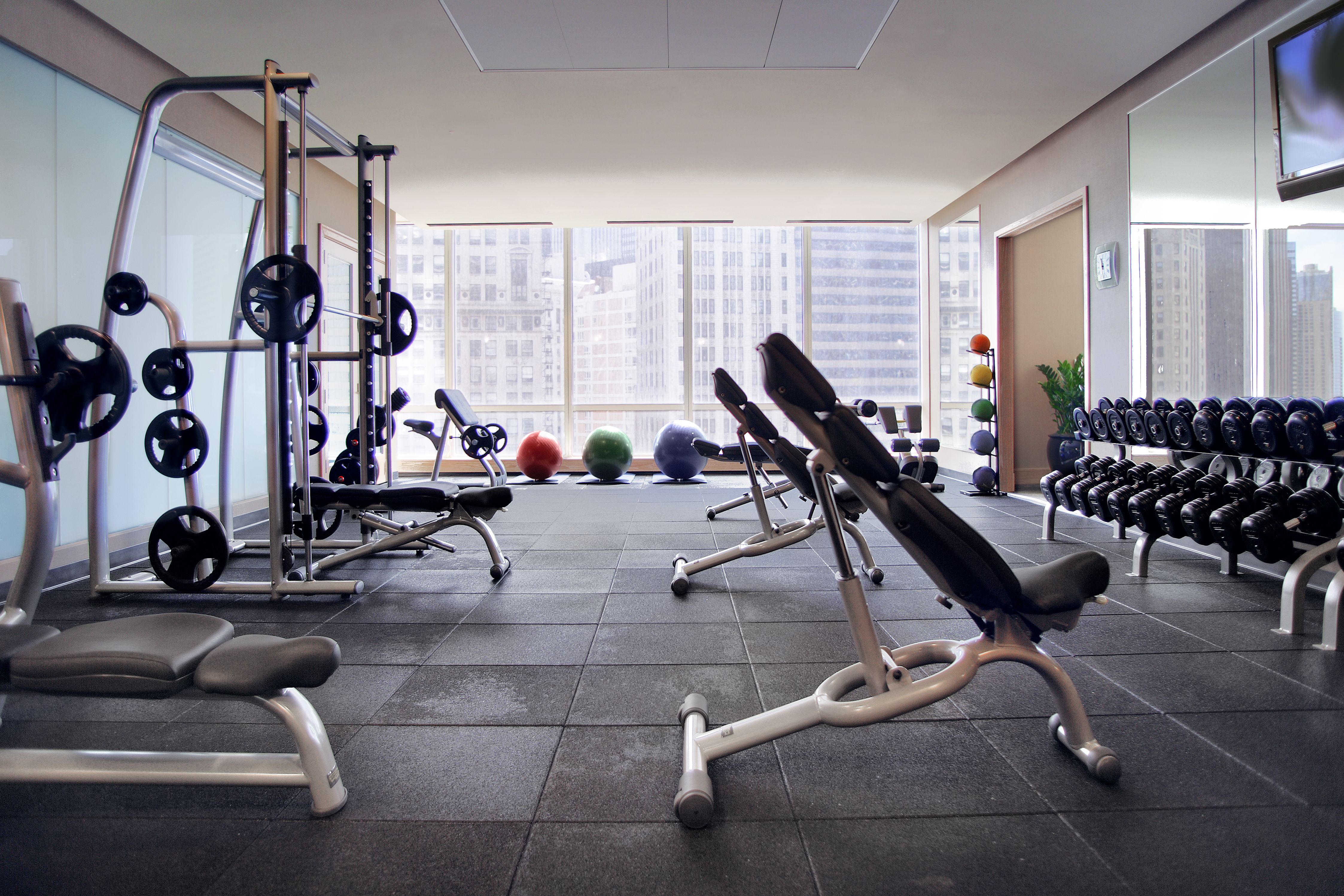 Hotel Fitness Center with Weights