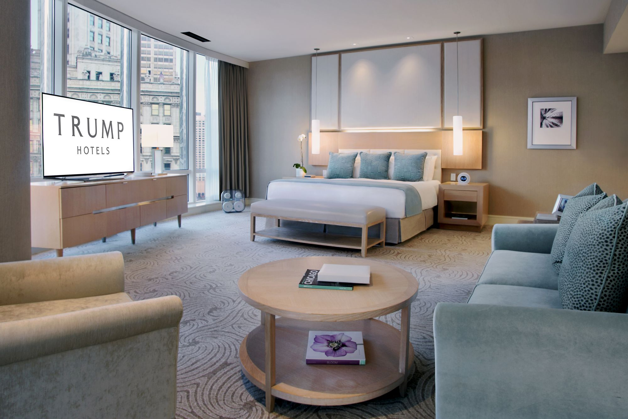 Spacious Hotel Room with City Views