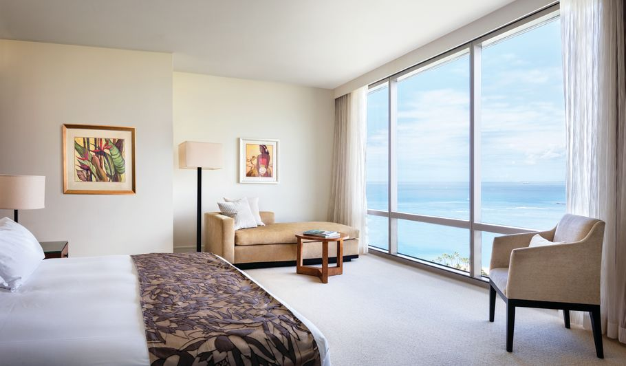 Tropical Hotel Room with Oceanviews