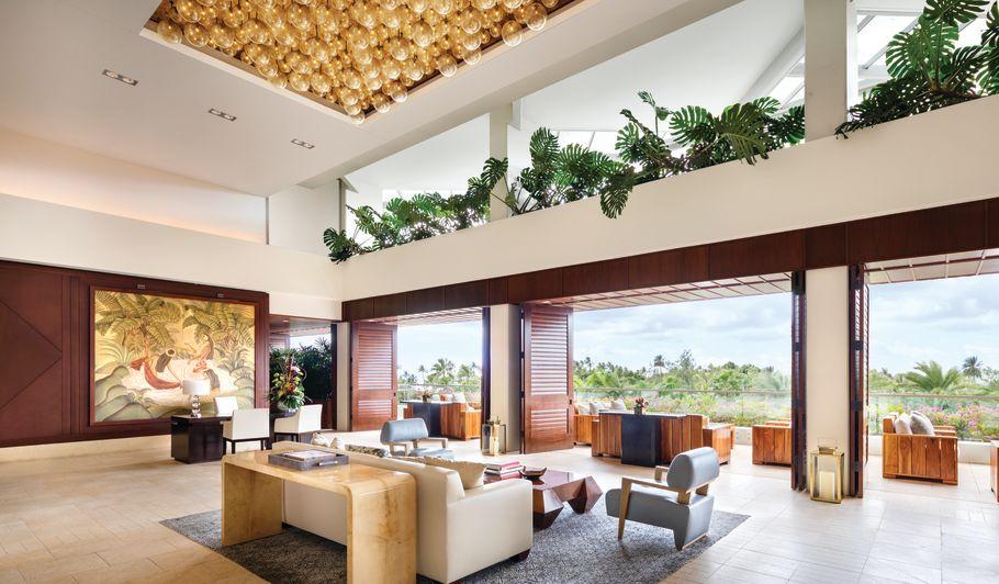 Open Air Tropical Hotel Lobby