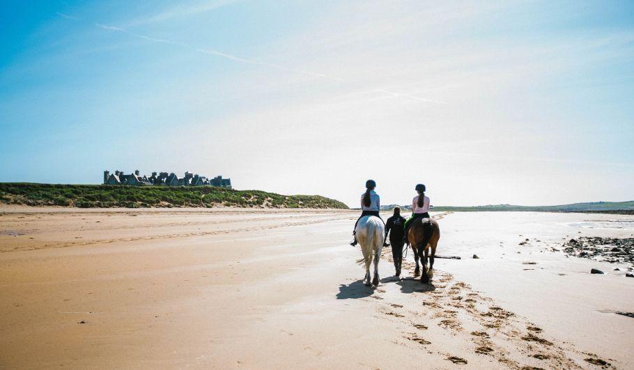 Trump Doonbeg horse riding on beach