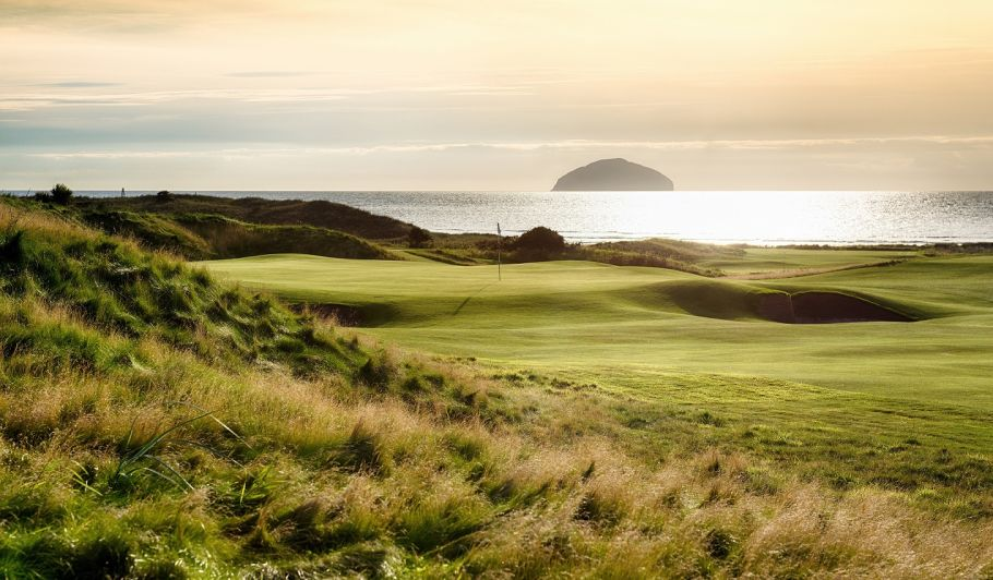 Trump Turnberry golf course with ocean in the background