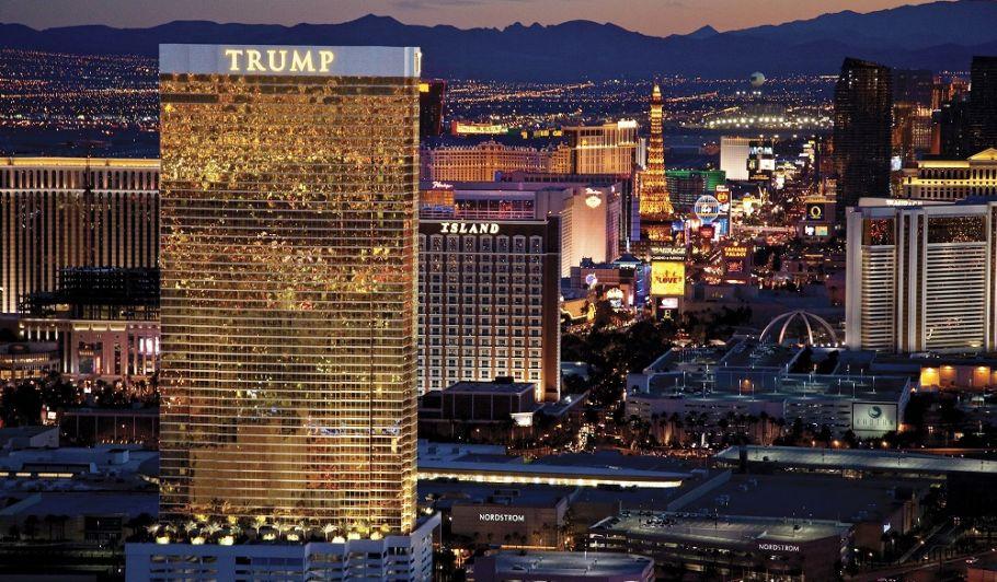 Trump Las Vegas exterior with Vegas Strip in background