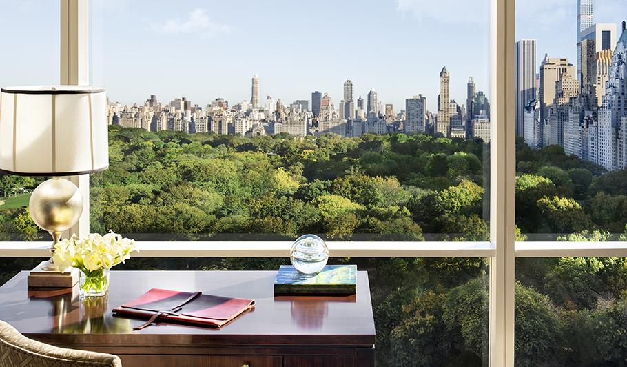Desk overlooking Central Park