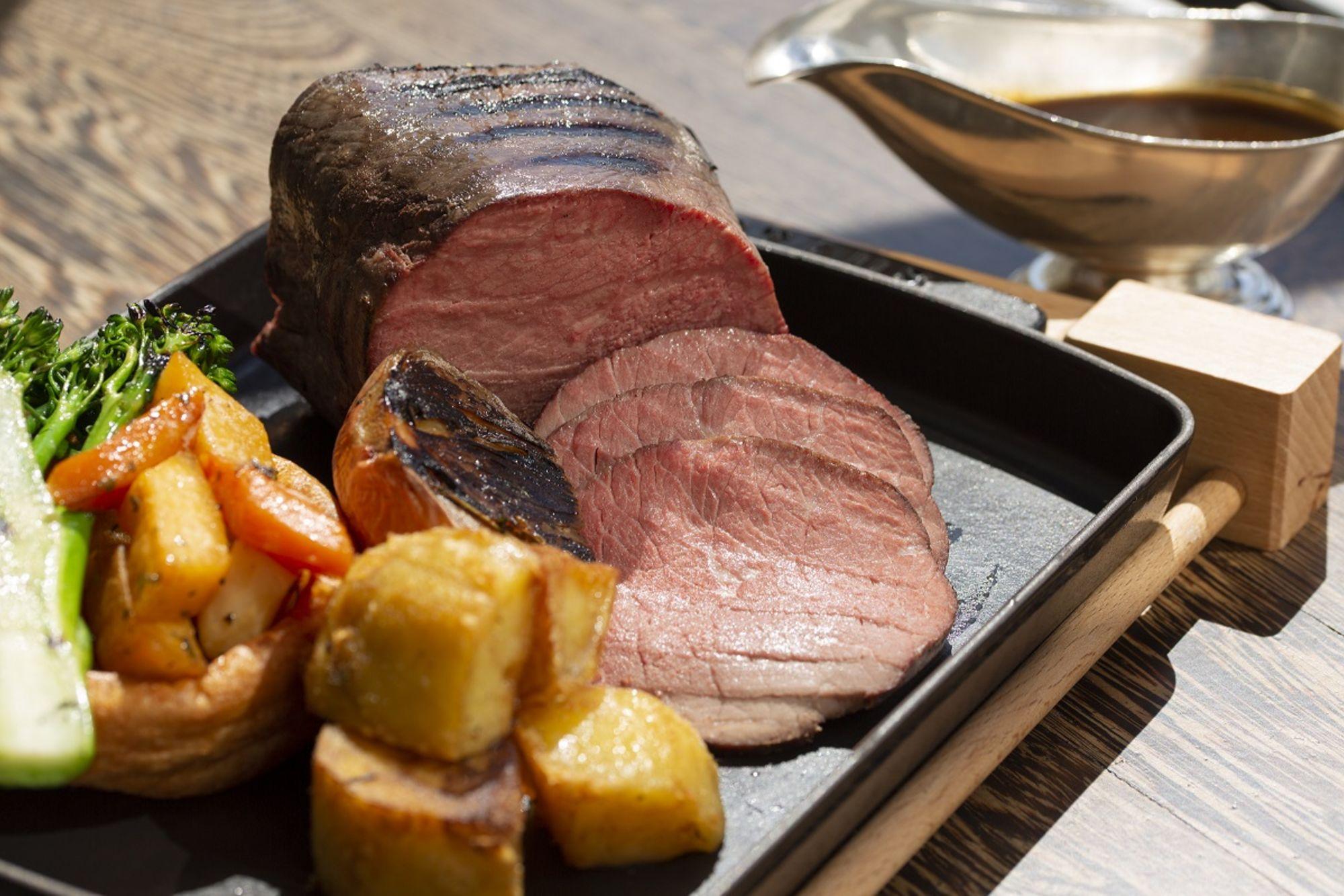 Rib Steak, Vegetables, and Potatoes