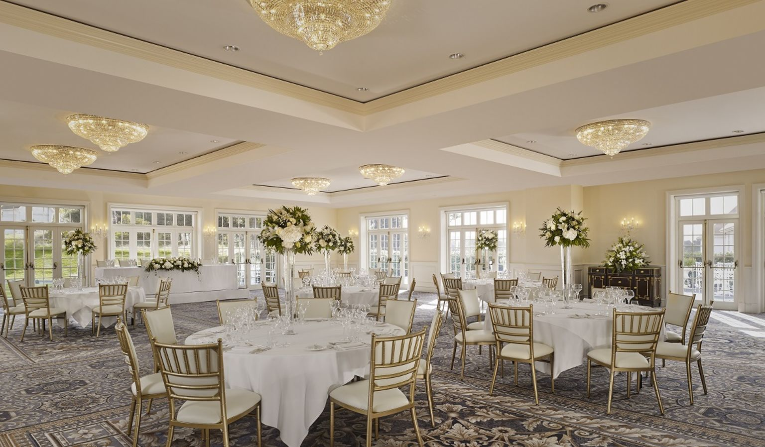 Caledonia Ballroom with Tables and Chairs